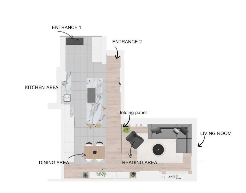 Open plan - Layout design