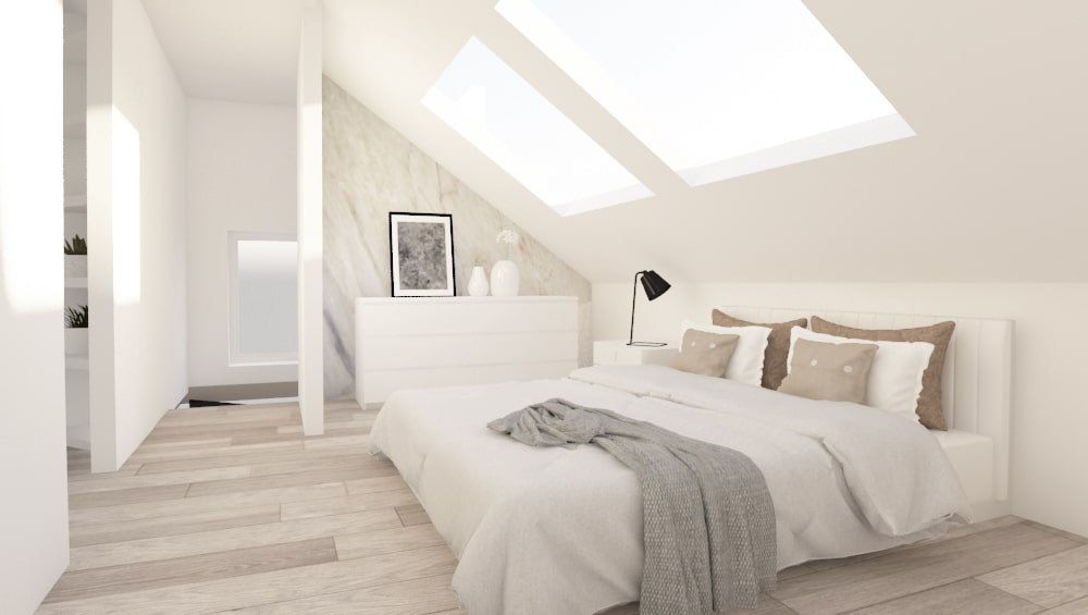 master bedroom - loft extension